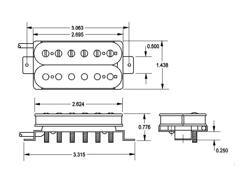 Captador humbucker JB Model Blk 4-Conductor 11102-13-B SH-4 Ponte - SEYMOUR DUNCAN