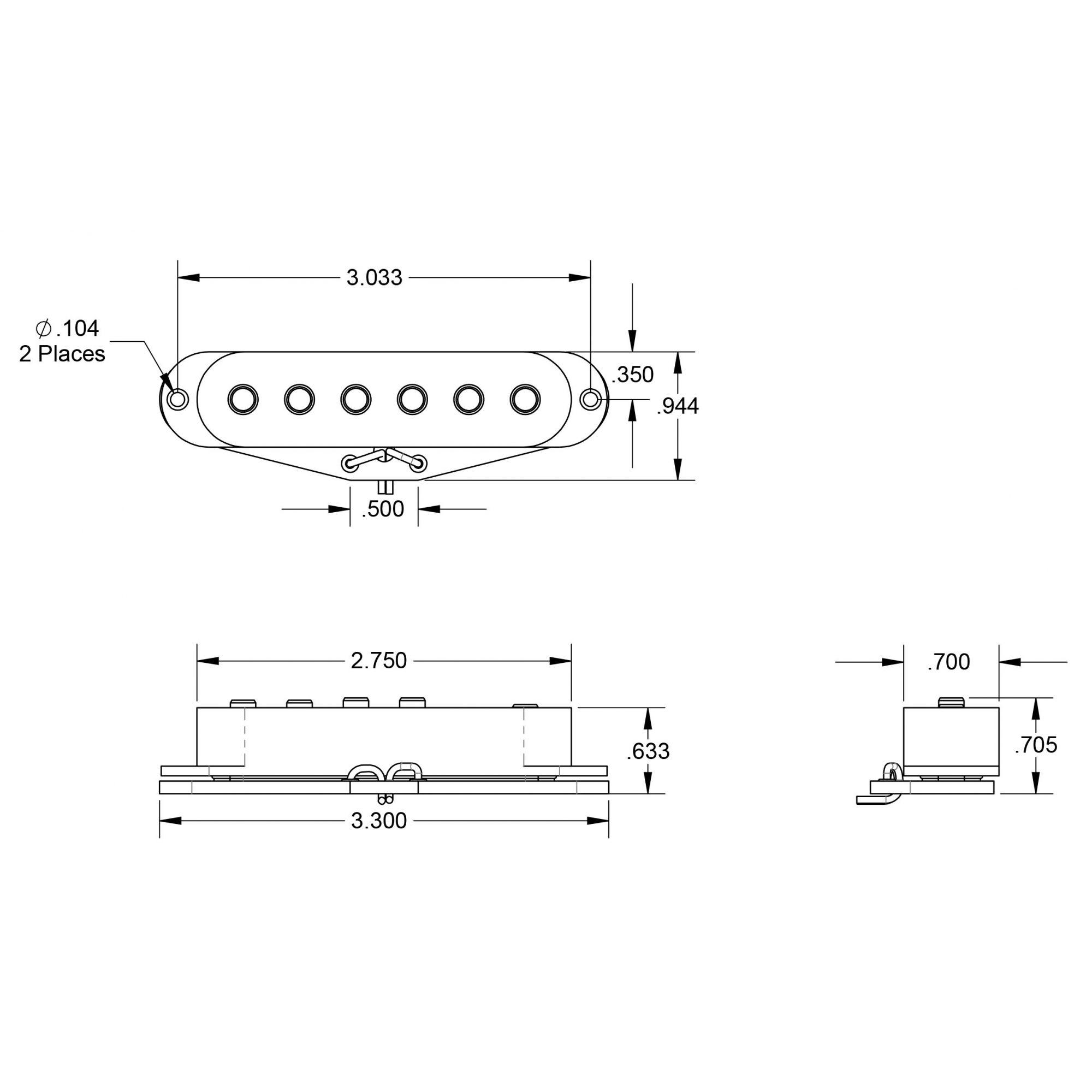 Captador Single Vintage Stag Strat 11201-01-RwRp SSL-1 Meio - SEYMOUR DUNCAN