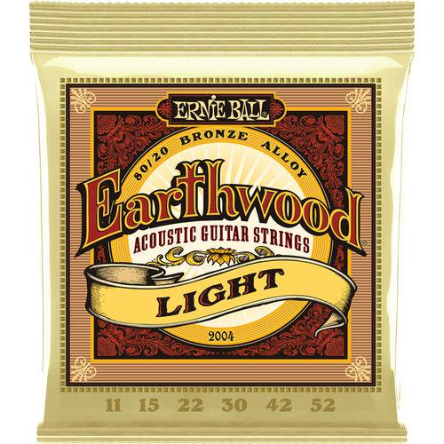 ENCORDOAMENTO 011.052 2004 P VIOLAO ACO ERNIE BALL EARTHWOOD 8020 LIGHT