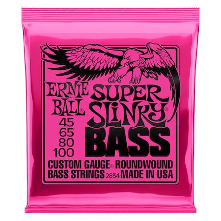 ENCORDOAMENTO 045.100 BAIXO 4 CORDAS 2834 SUPER SLINKY -ERNIE BALL