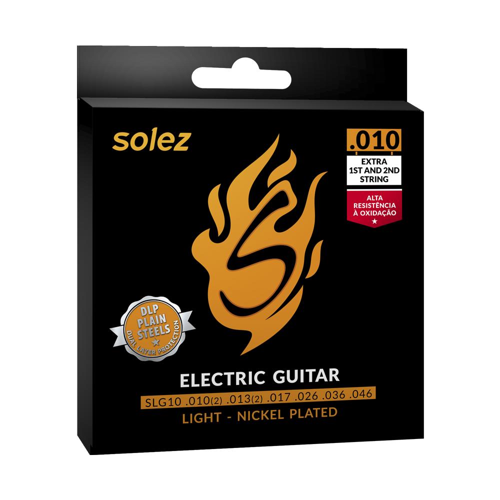 "ENCORDOAMENTO GUITARRA 0.010"" SLG10 - SOLEZ"