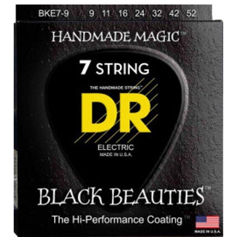 ENCORDOAMENTO GUITARRA 7 CORDAS BLACK BEAUTIES 0.09 BKE7-9 - DR STRINGS