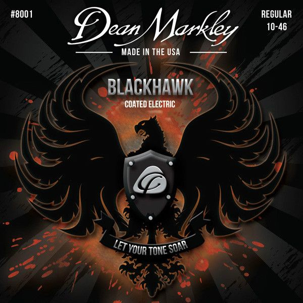 ENCORDOAMENTO GUITARRA BLACKHAWK REGULAR 10-46 8001- DEAN MARKLEY