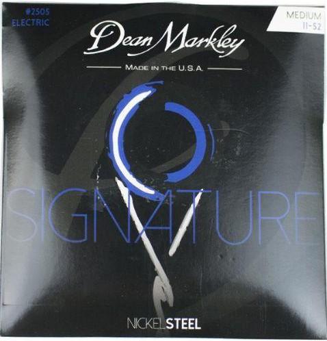 ENCORDOAMENTO GUITARRA SIGNATURE SERIES NICKEL STEEL, 11-52  2505 - DEAN MARKLEY