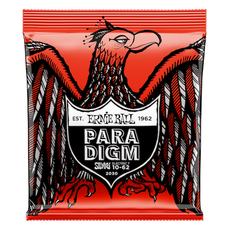 ENCORDOAMENTO P/ GUITARRA 7 CORDAS SKINNY TOP HEAVY BOTTOM SLINKY PARADIGM 010-062  P02030 - ERNIE BALL