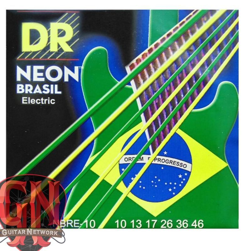 ENCORDOAMENTO P/ GUITARRA Hi-Def NEON BRAZIL 0.10 NBRE-10 - DR STRINGS