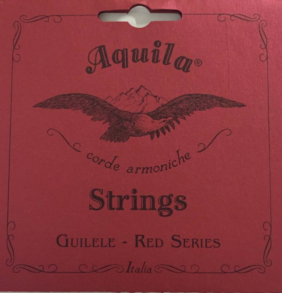 ENCORDOAMENTO UKULELE RED SERIES SOPRANO LOW G - AQUILA