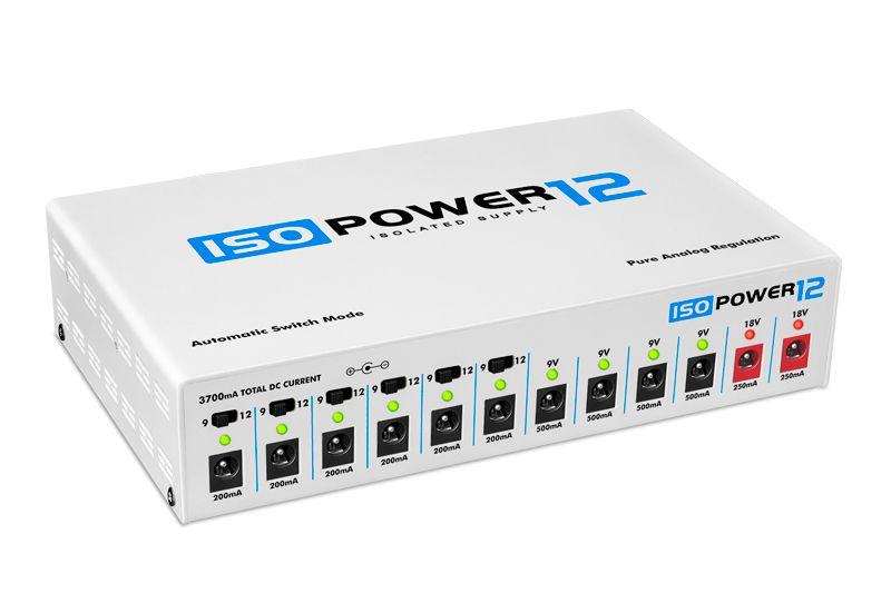 Fonte ISOPOWER12 bivolt automática com 12 saídas isoladas - branca - LANDSCAPE