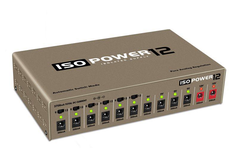 Fonte ISOPOWER12 bivolt automática com 12 saídas isoladas - dourada - LANDSCAPE
