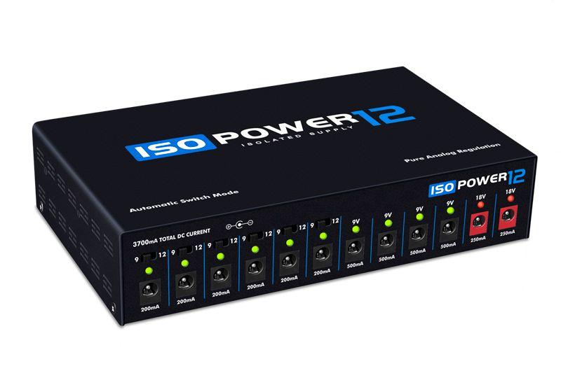 Fonte ISOPOWER12 bivolt automática com 12 saídas isoladas - preta - LANDSCAPE