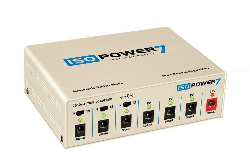 Fonte ISOPOWER7 bivolt automática com 7 saídas isoladas - branca - LANDSCAPE