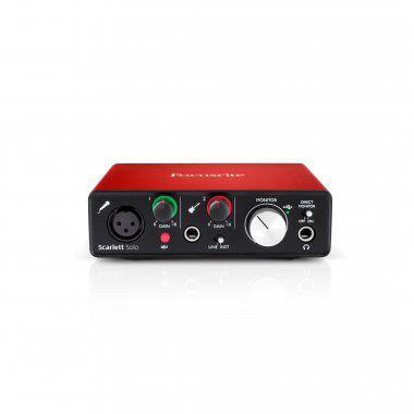 Interface para gravação USB Scarlett Solo 2ND-GN 2a geração -FOCUSRITE