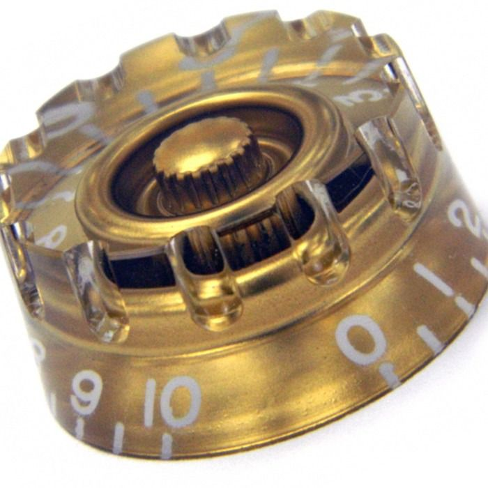Kit 4 Knob Les Paul Plastico Gold - Santo Angelo