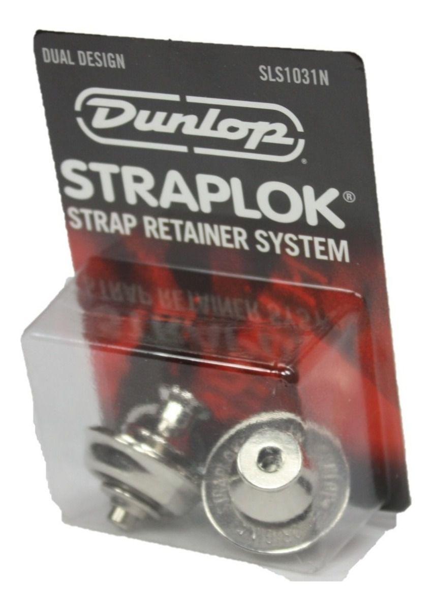 KIT STRAP LOCK DUAL DESIGN NICKEL SLS1031N DUNLOP