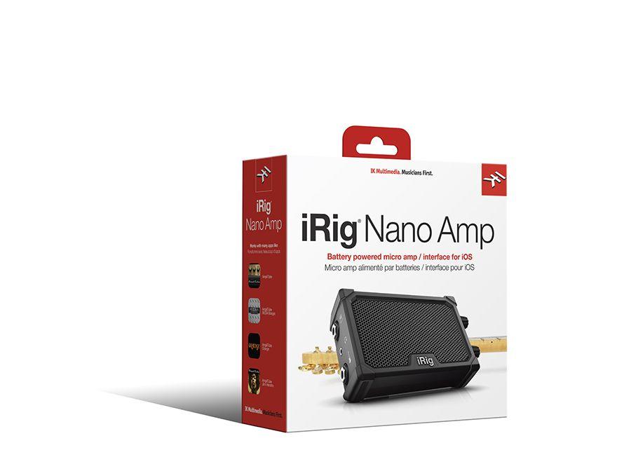 Micro amplificador com interface iOS - iRig Nano Amp - IK MULTIMEDIA