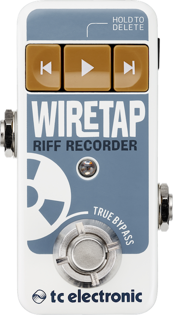 PEDAL GRAVADOR ULTRA COMPACTO WIRETAP RIFF RECORDER - TC ELECTRONIC
