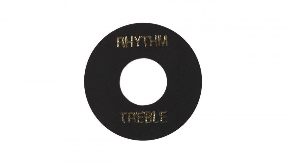 PLACA TREBLE/ RHYTHM GIBSON PRWA 010 - PRETA COM PRINT DOURADO