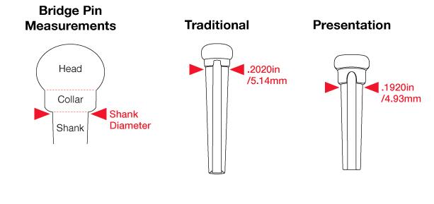 PP-1122-00 - TUSQ - PINO PARA CAVALETE ESTILO MARTIN - BRANCO COM CENTRO PRETO 2mm - GRAPHTECH