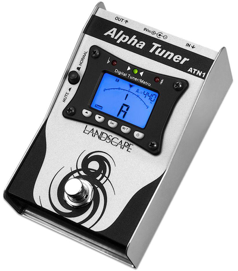 Processador (pedal) de efeito de audio afinador - Alpha Tuner - ATN1 - LANDSCAPE