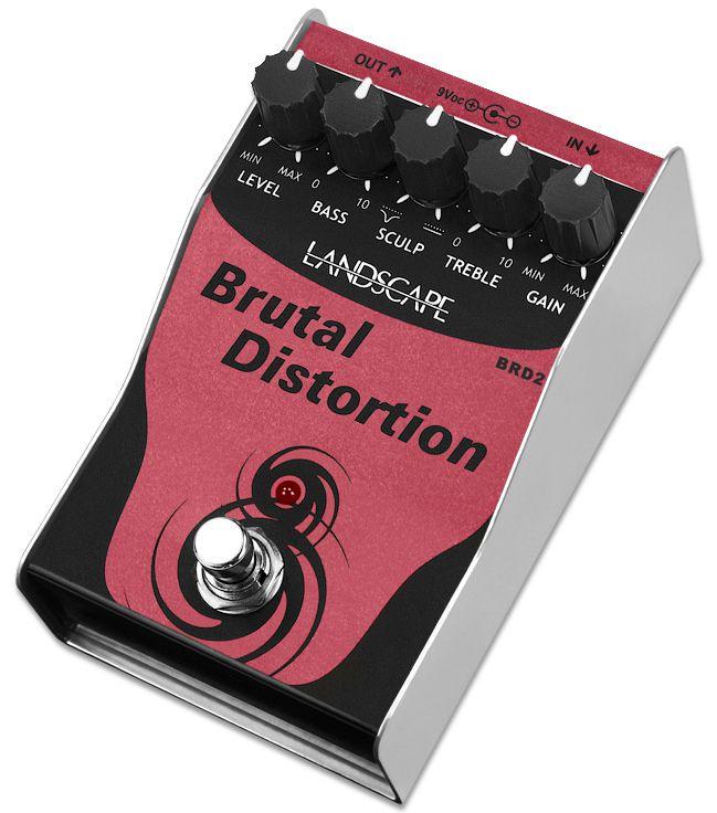 Processador (pedal) de efeito de audio Brutal Distortion BRD2 - LANDSCAPE