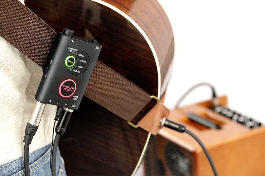 Sistema de microfone digital para violão acústico - iRig Acoustic Stage - IK MULTIMEDIA