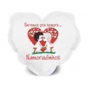 Almofada de Coração Personalizada Amor Sempre Namoradinhos
