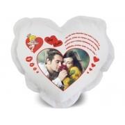Almofada de Coração Personalizada com Foto e Mensagens - 001