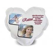 Almofada de Coração Personalizada com Foto e Mensagens - 003