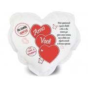 Almofada de Coração Personalizada Namorados Amo Você