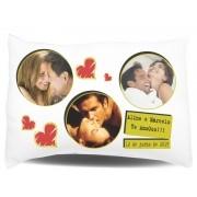 Almofada de Travesseiro Personalizado com Fotos e Mensagens - 001