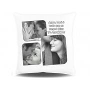 Almofada Quadrada Personalizada com Fotos e Mensagens - 003