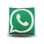 Almofada Quadrada Personalizada Whatsapp