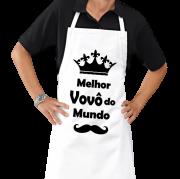 Avental de Cozinha Churrasco Personalizado Melhor Vovô do mundo