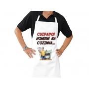 Avental Personalizado de Cozinha Churrasco Homem na Cozinha
