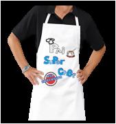 Avental Personalizado de Cozinha e Churrasco meu Pai Super Chef