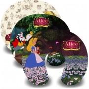 Kit com 10 almofadas de pescoço infantil Personalizadas Alice no pais das maravilhas