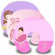 Kit com 10 Almofadas de Pescoço Lembrancinha Personalizada Bailarina