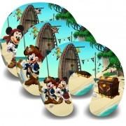 Kit com 10 Almofadas de Pescoço Lembrancinha Personalizada Mickey Pirata
