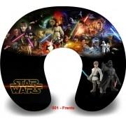 Kit com 10 Almofadas de Pescoço Lembrancinha Personalizada Star Wars