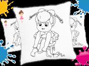Kit com 10 Almofadas para Colorir e Pintar Personalizada Bailarina