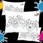 Kit com 10 Almofadas para Colorir e Pintar Personalizada Baile de Máscara