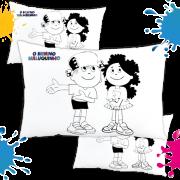 Kit com 10 Almofadas para Colorir e Pintar Personalizada Menino Maluquinho