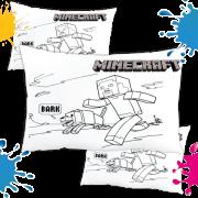 Kit com 10 Almofadas para Colorir e Pintar Personalizada Minecraft