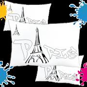 Kit com 10 Almofadas para Colorir e Pintar Personalizada Paris