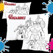 Kit com 10 Almofadas para Colorir e Pintar Personalizada Vingadores