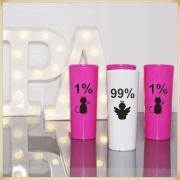 Kit com 30 copos Long Drink de acrílico Personalizados para Festas de Despedidas Solteiro