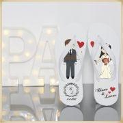 Kit com 50 Chinelos Personalizados para festas de casamento e madrinhas