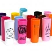 Kit com 50 copos Long Drink acrílico Personalizados para Festas