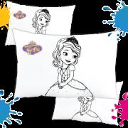 Kit de 10 Almofadas para Colorir e Pintar Personalizada Princesa Sofia