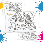 Kit de 10 Almofadas para Colorir e Pintar Personalizada Rapunzel Enrrolados